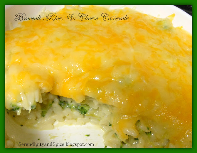 Creamy Broccoli, Rice, & Cheese Casserole - Serendipity and Spice