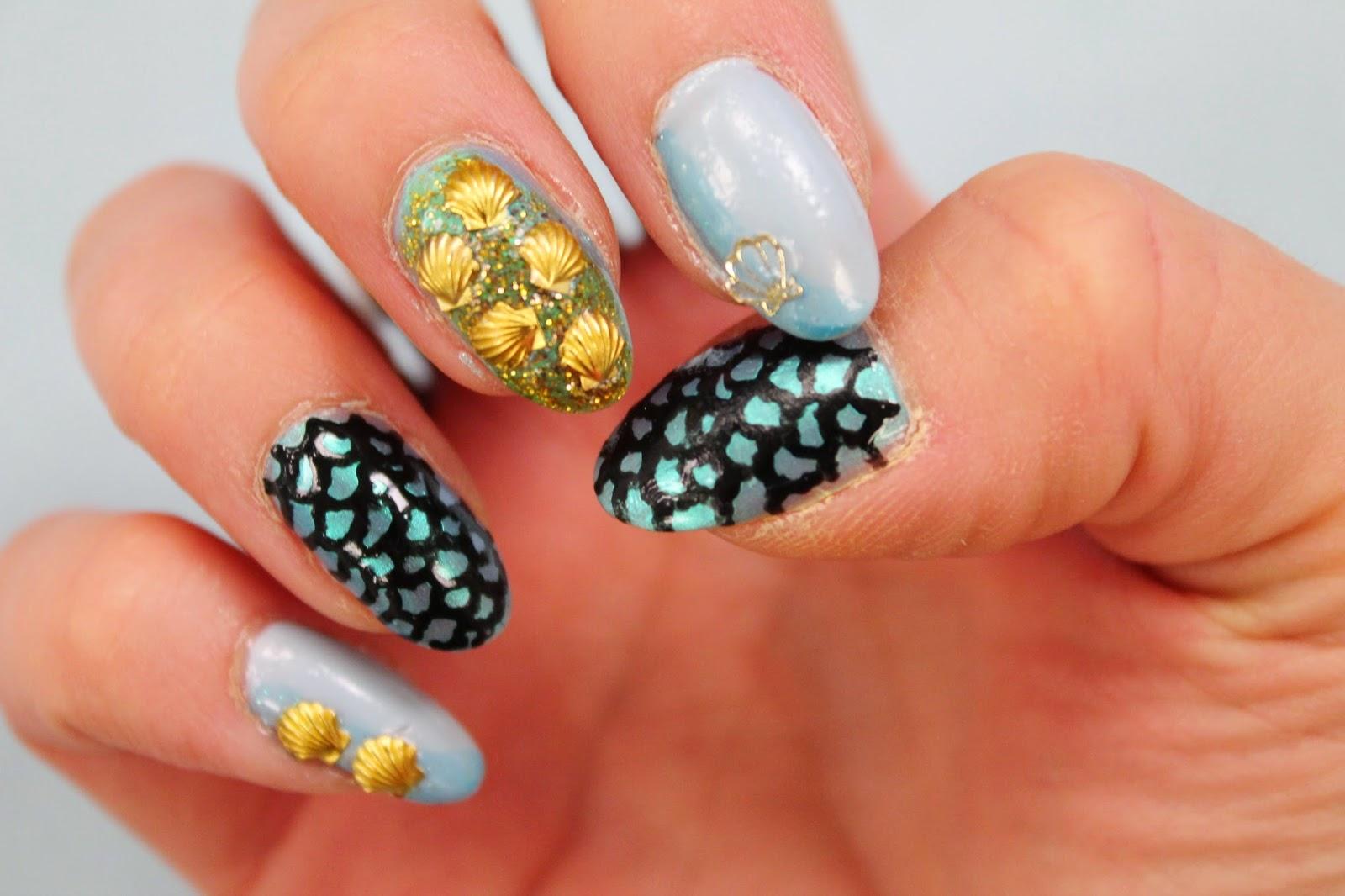 Mermaid Nails - Jersey Girl, Texan Heart