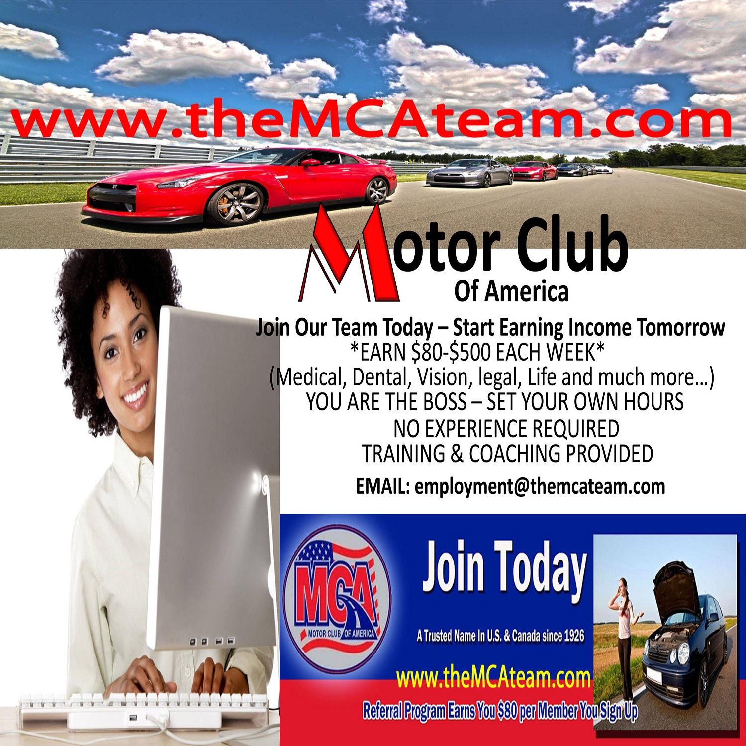 The motor club of america team Motor club of america careers