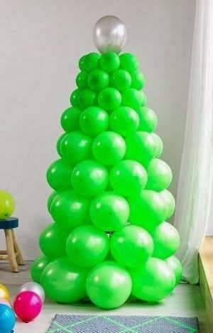 Adornos de navidad hechos con globos somosdeco blog de - Arbol de navidad hecho en casa ...