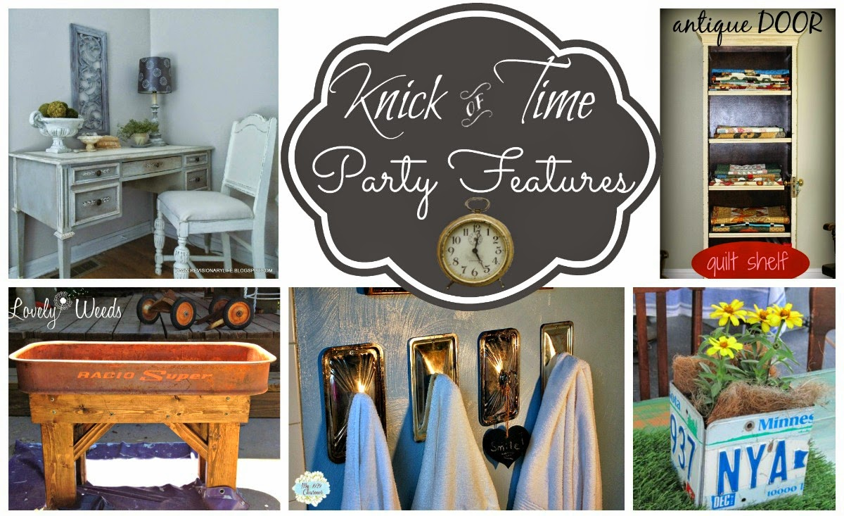 Antique, Vintage and Repurposed Home Decor Link Party via Knick of Time @ knickoftimeinteriors.blogspot.com