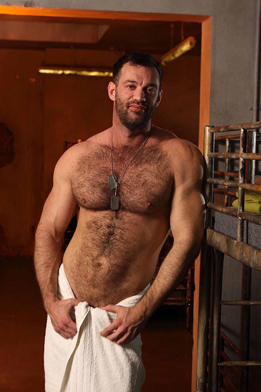 Add more hot male gay hairy men threesome, very