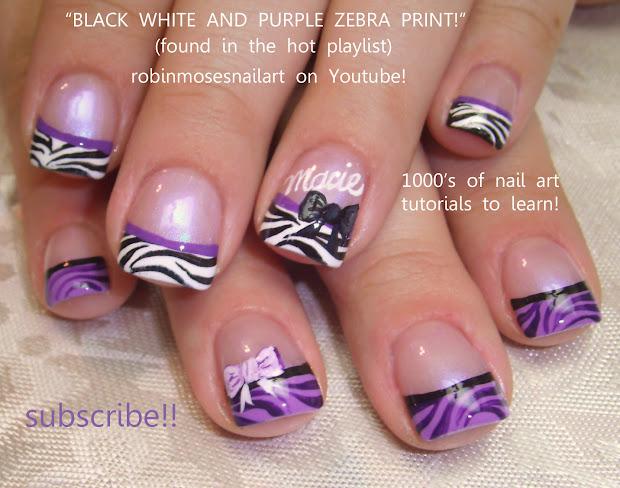 robin moses nail art zebra nails