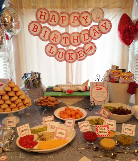Adorable Airplane Birthday Party