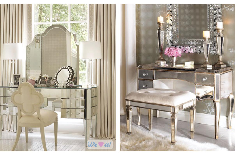 Penteadeiras vintage retrô e modernas – nos quartos e no banheiro  #8D3E67 1227x797