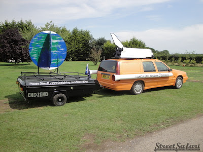 Spaced out Moonraker Volvo Rally Art Car