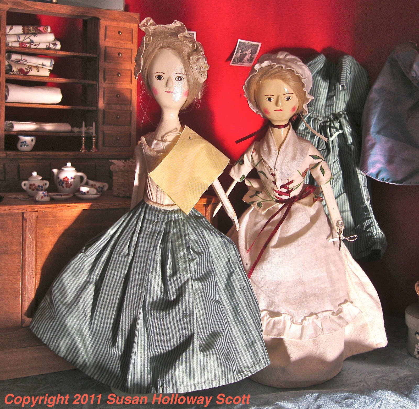 Christmas gown ideas 18th - Christmas In Colonial Williamsburg White Silk Fashionable Dolls At The Milliner S Shop