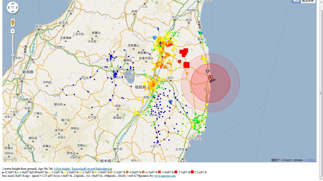 Fukushima Japan  City new picture : isowatch news: Radiation map in Fukushima, Japan