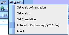 """""""Al-Quran"""" untuk ms.word 2003"""