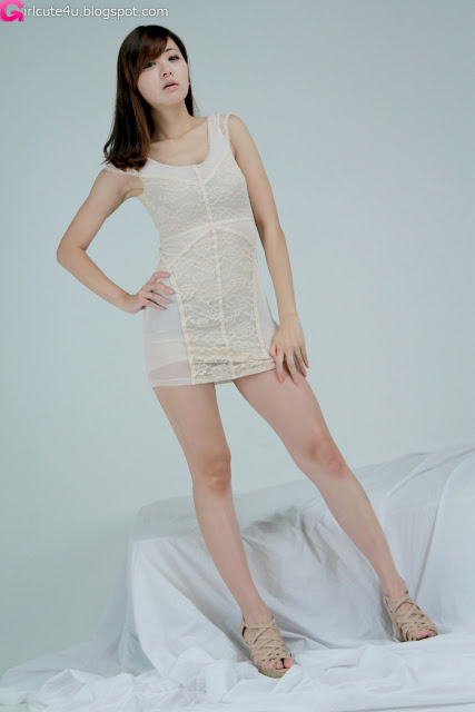 7 Jung Se On - Beige Mini Dress-very cute asian girl-girlcute4u.blogspot.com