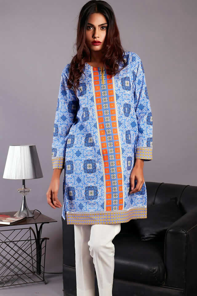 Trendy Kurti And Printed Tops Collection By Zeen In 2016