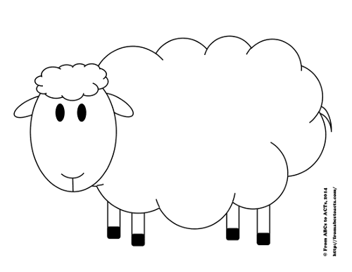 Insane image inside sheep printable