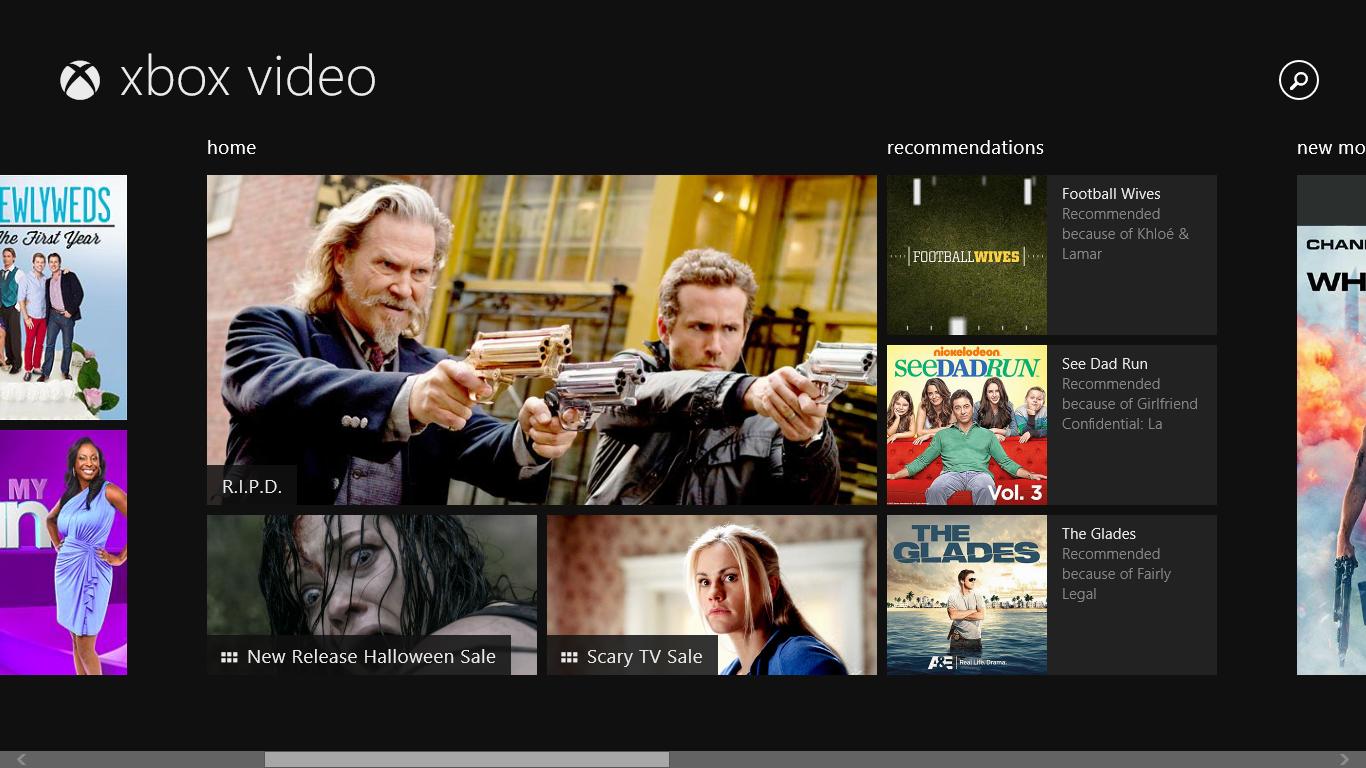 Características de Xbox Video