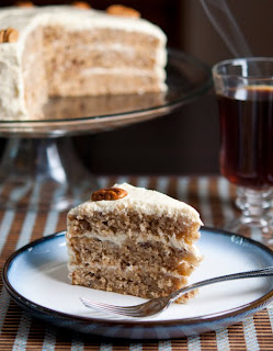 Hummingbird cake made with coconut oil