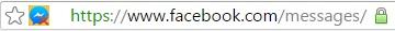 مكان الإضافة الخاصة بحذف الرسائل من فيسبوك