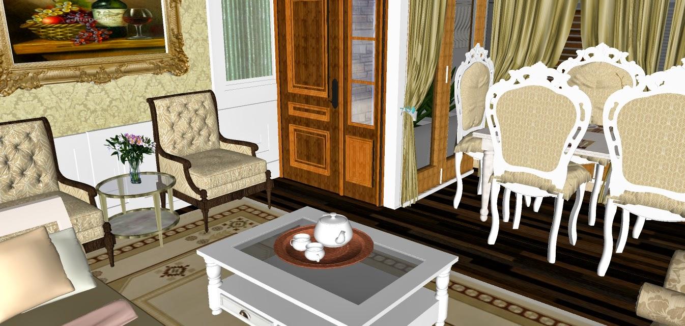 cara menghias rumah: Rekabentuk Hiasan Dalaman Rumah Gaya Inggeris