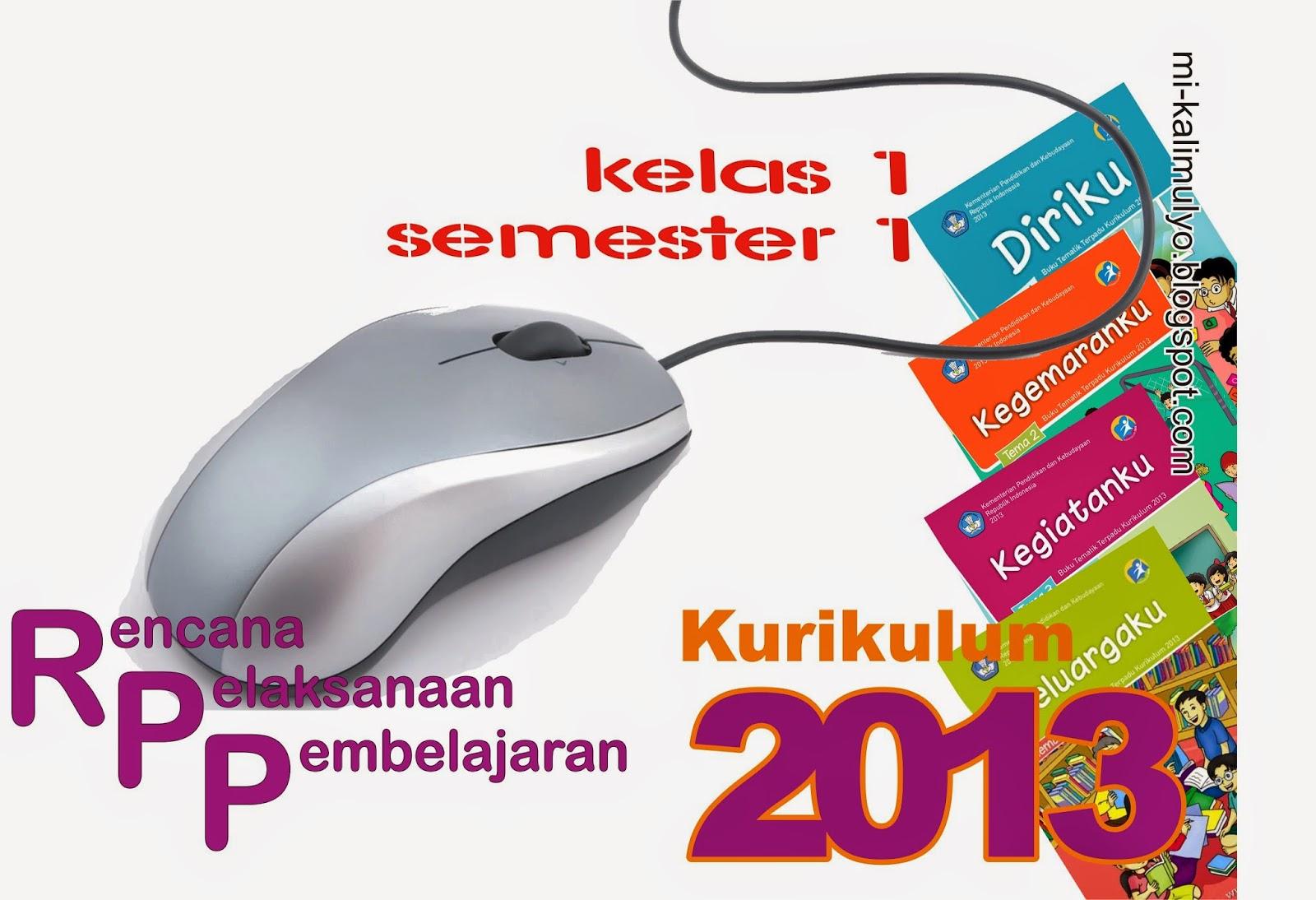 RPP Kurikulum 2013 Kelas 1 Semester 1