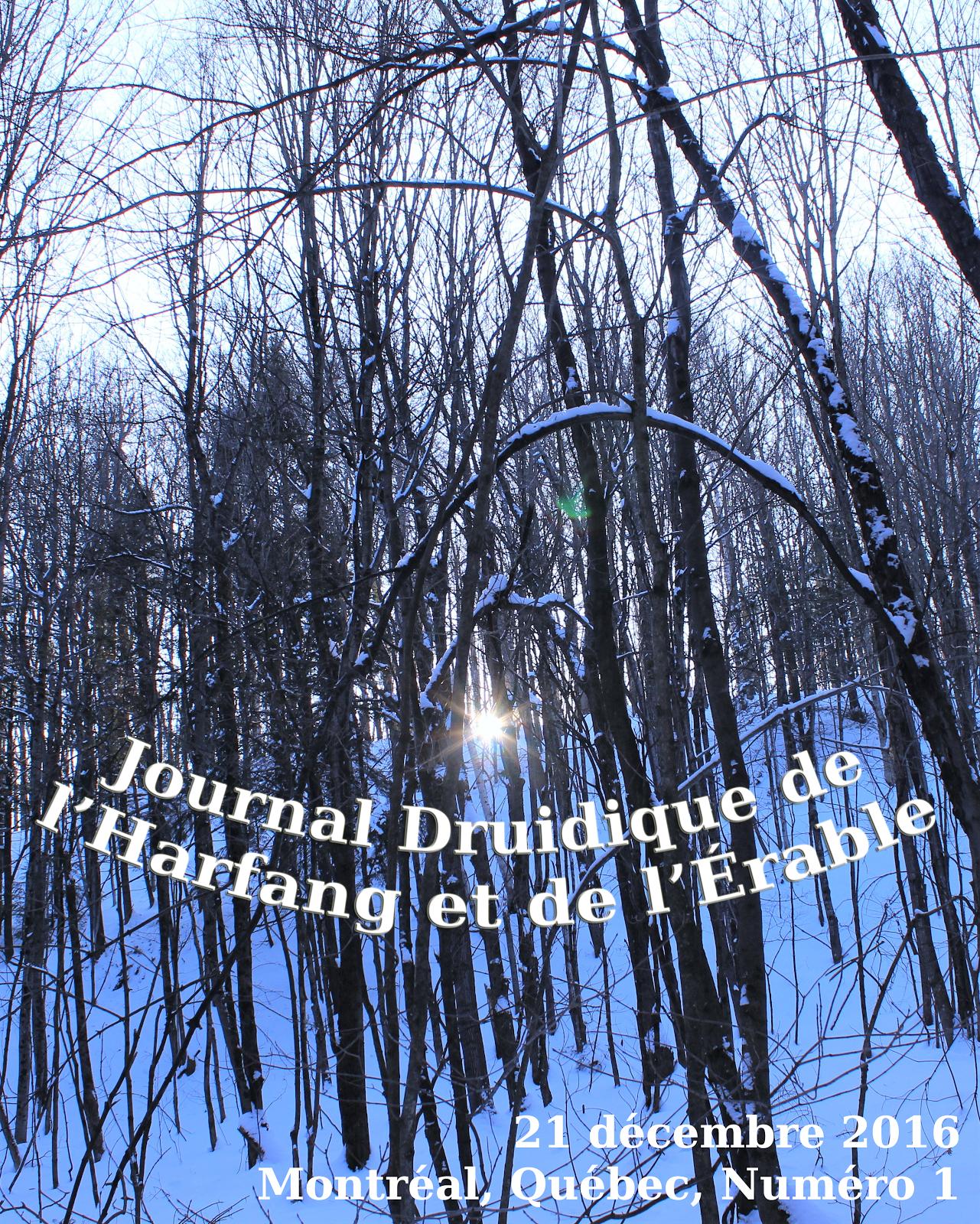 Journal Druidique de l'Harfang et de l'Érable
