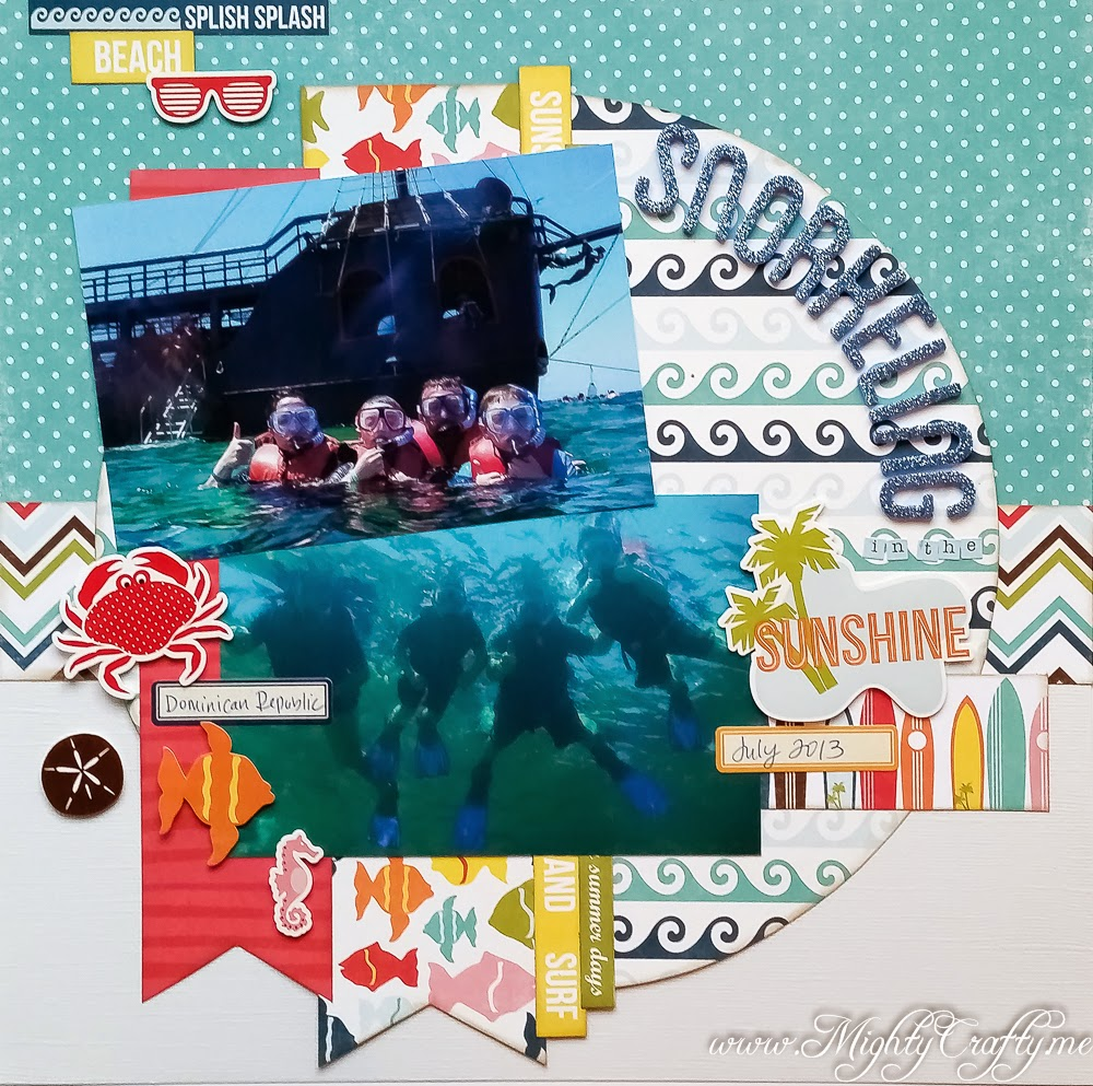 Snorkeling in the Sunshine layout for Sketch N Scrap -- www.MightyCrafty.me
