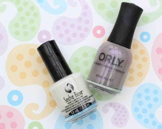 Seche Base Coat and Orly Sweet Dreams nail polishes