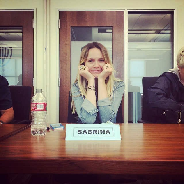 Troian Bellisario's BFF Lulu Brud Zsebe at PLL Table Read 6x04