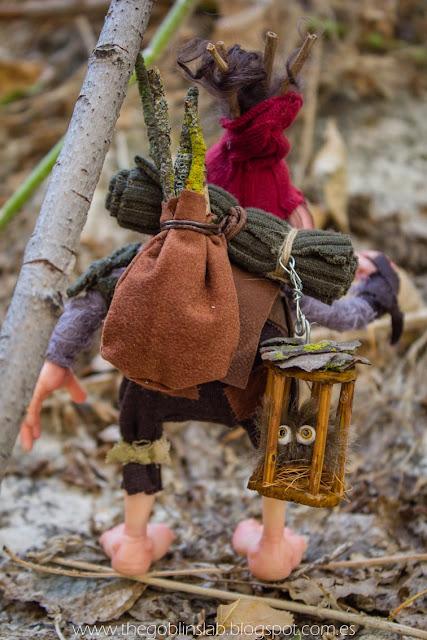 duende ooak criatura fantástica viajero aventurero