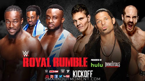 WWE Royal Rumble 2015 Elimination Tag Team Pre-Show Kickoff Match
