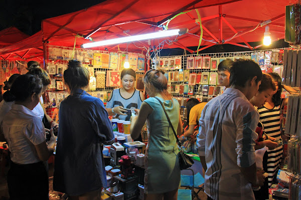 The night market in Vientiane