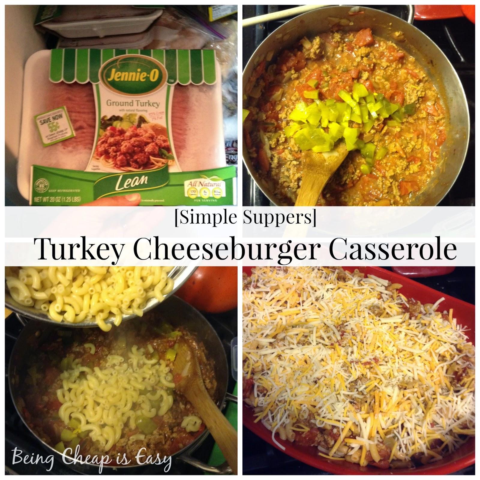 Cheeseburger, Simple Dinners, Casseroles, Ground Turkey, Jennie-O