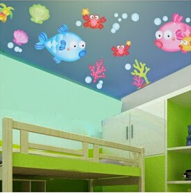 Bubblefish wall stickers