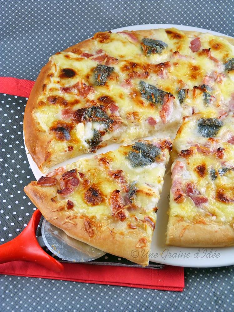 pizza lardons ch vres et miel une graine d 39 id e. Black Bedroom Furniture Sets. Home Design Ideas