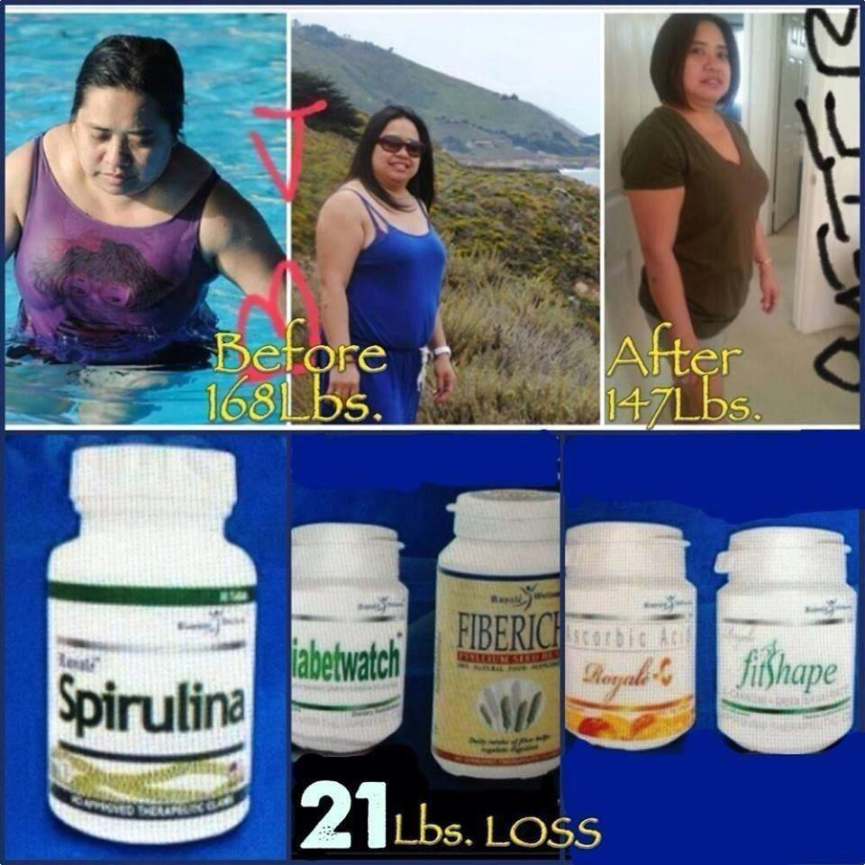 spirulina weight loss before and after