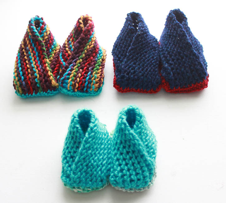 Simple Bootie Knitting Pattern : Crossover Booties- Now With Additional Sizes [knitting pattern] - Gina Michele