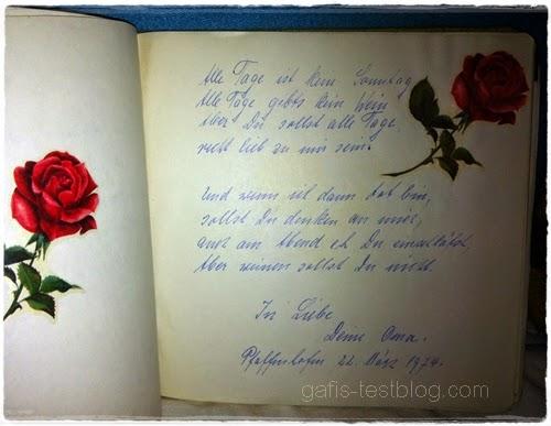 Poesiealbumeintrag