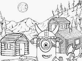 Purple Minion Coloring Pages Printable