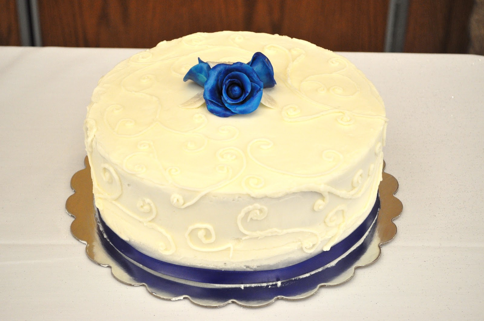 CakeJoy: Royal Blue and Silver Wedding