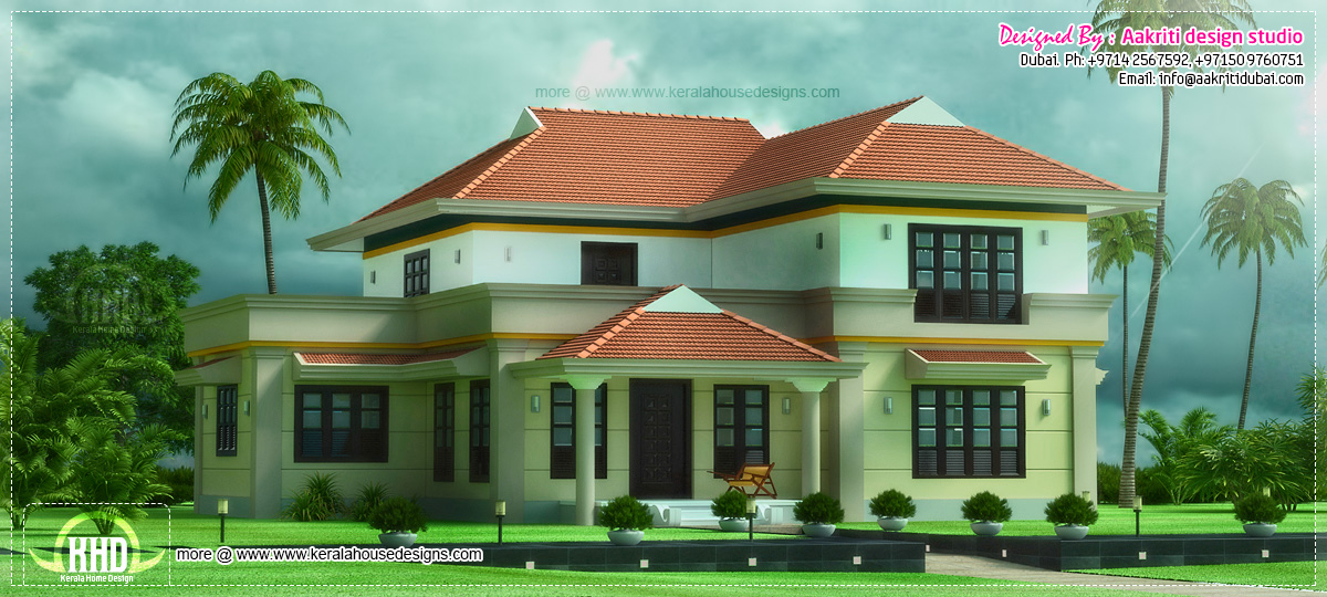 Beautiful 4 bhk villa exterior elevation home ideas Beautiful houses in dubai pictures
