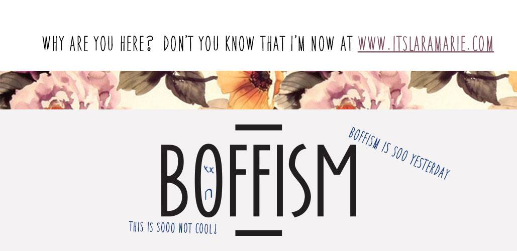 Boffism: I'm now on YouTube y'all! Come see me at www.youtube.com/laraboffa89