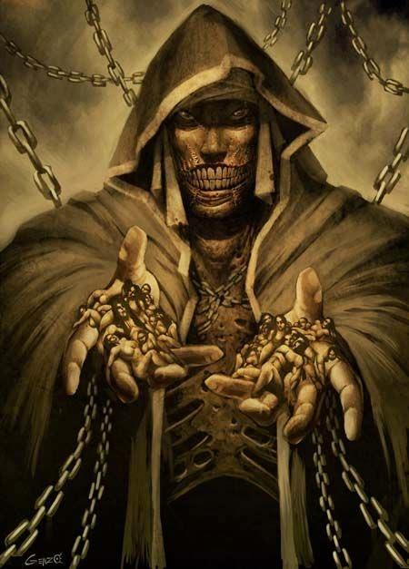 Gonzalo Ordóñez Arias genzoman deviantart illustrations fantasy games monsters mythology gods Pestilence