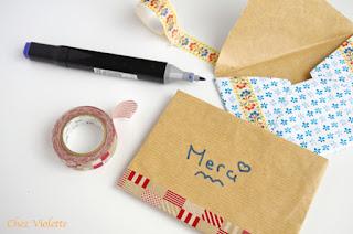 DIY paper good enveloppe -  tutorial tutoriel enveloppe - chez violette