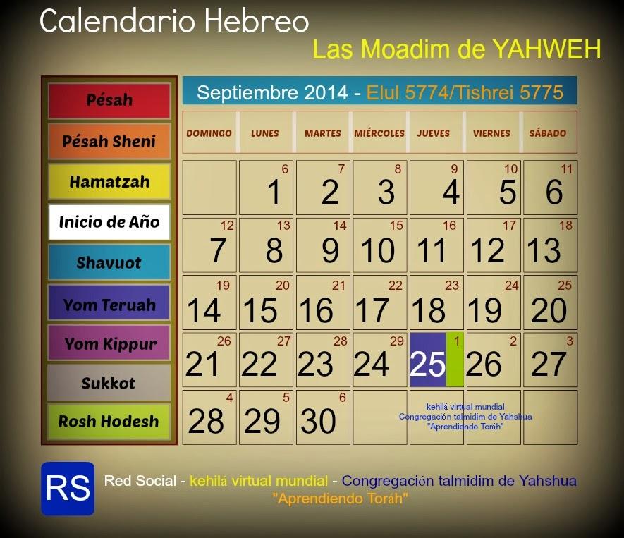 calendario hebreo