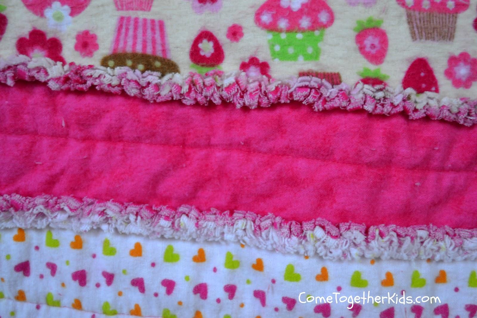 Come Together Kids Flannel Rag Quilt