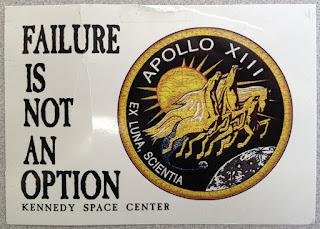 """Failure is not an option"" Apollo 13 postcard"