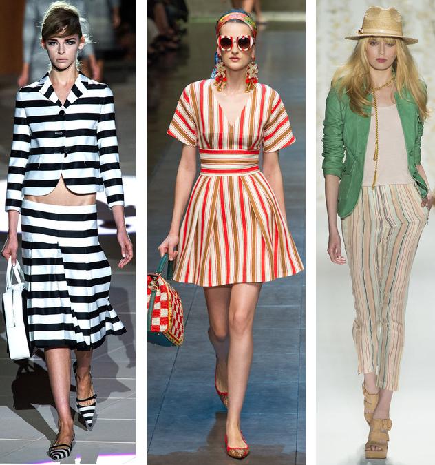 Spring 2013 Stripes Trend: Marc Jacobs// Dolce & Gabbana// Rachel Zoe