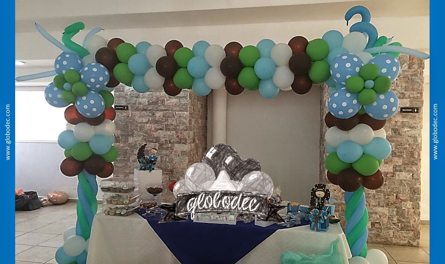 Decoracion de globos para baby shower hombre for Decoracion de baby shower nino