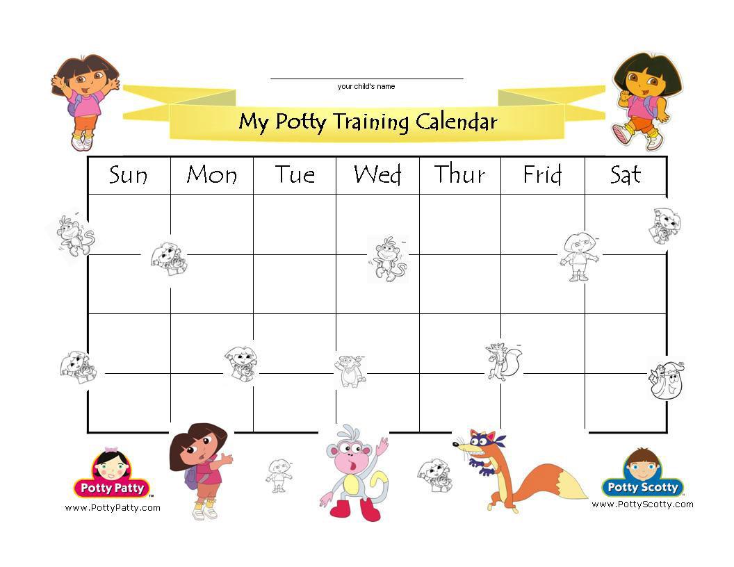 Potty Training Calendar