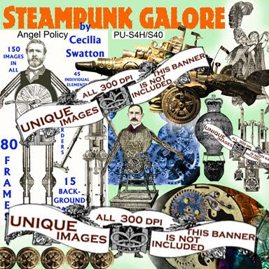 Steampunk Galore digital clipart collection