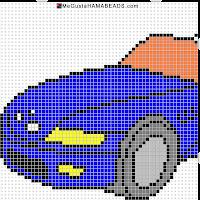 hama beads coche bmw