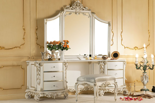 coiffeuse romantique shabby chic
