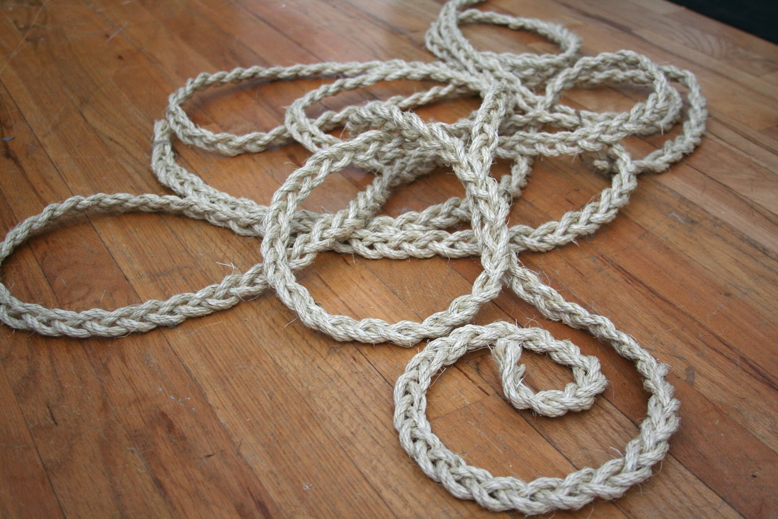 My salvaged home braided rope rug for Rope carpet